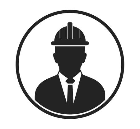 Male Engineer Profile Icon. Flat style vector .