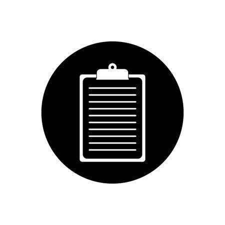 Document Clipboard Button Icon. Editable Vector EPS Symbol Illustration.