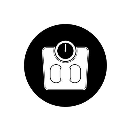 Human Weight Scale Button Icon. Editable Vector Symbol Illustration.  イラスト・ベクター素材