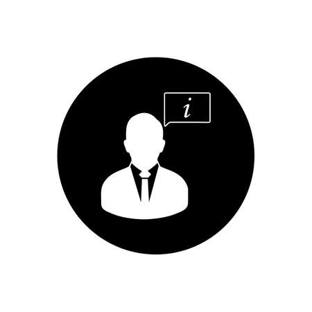 Business User Information Rounded Icon. Editable Vector Symbol Illustration.  イラスト・ベクター素材