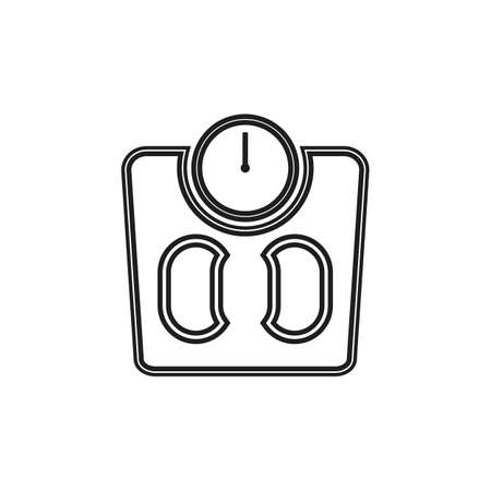 Human Weight Scale Line Icon. Editable Vector EPS Symbol Illustration.