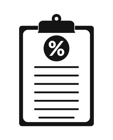 Tax Report Icon. Flat style vector.