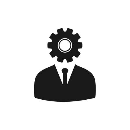 Technical Support Man Icon. Editable Vector Symbol Illustration.  イラスト・ベクター素材