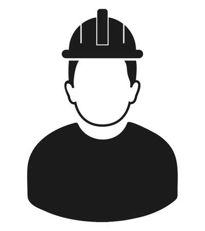 Male worker Icon. Flat style vector.