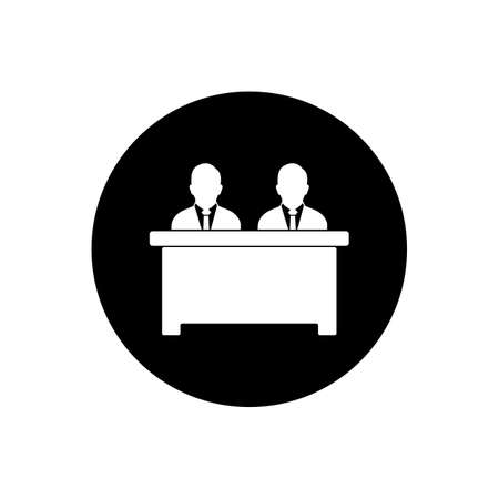 Business Receptionist Button Icon. Editable Vector EPS Symbol Illustration.  イラスト・ベクター素材