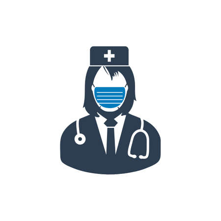 Surgeon Medical Stuff Icon. Editable Vector Symbol Illustration.