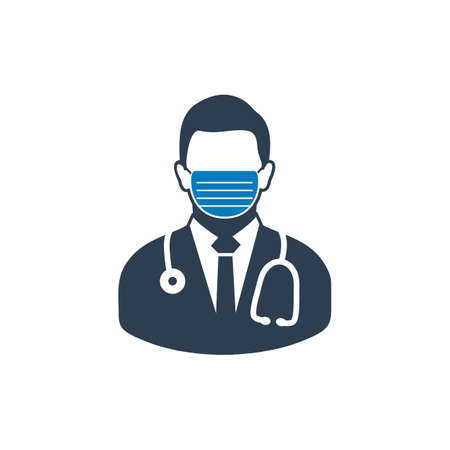 Male Surgeon Icon. Flat style vector EPS.
