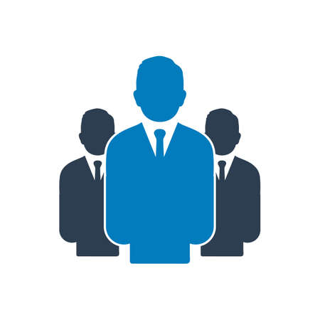 Business Leader Icon. Editable Vector EPS Symbol Illustration.