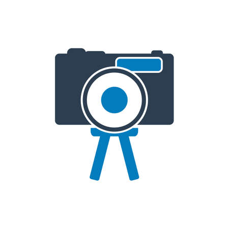 Video camera Icon. Flat Style vector EPS.  イラスト・ベクター素材