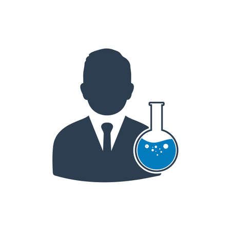 Chemist Icon. Editable Vector EPS Symbol Illustration.