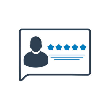 User review or Feedback Icon. Flat style vector EPS. Illustration