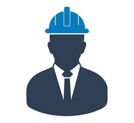 Male Engineer Icon. Flat style vector EPS.  イラスト・ベクター素材
