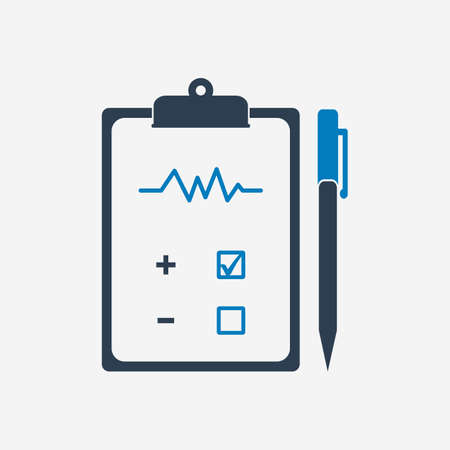 Medical Test Report icon. Editable Vector EPS Symbol Illustration.