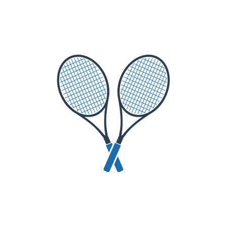 Coupled Tennis Racket Icon. Flat style vector EPS.  イラスト・ベクター素材