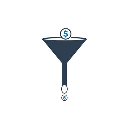 Sales Funnel Icon. Editable Vector EPS Symbol Illustration.  イラスト・ベクター素材