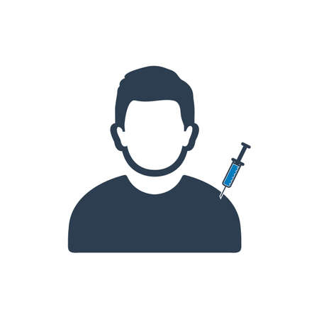 Medical Patient Vaccination Icon. Editable Vector EPS Symbol Illustration.
