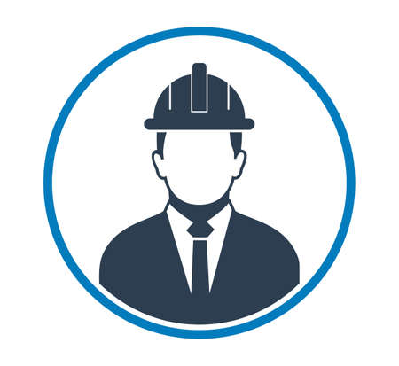 Male Engineer Profile Icon. Flat style vector EPS.
