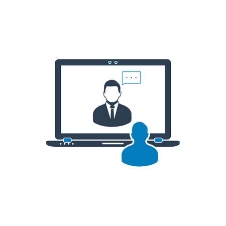 Video Conference Icon. Flat Style vector EPS.
