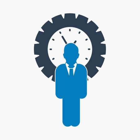 Time manager icon. Flat style vector EPS.  イラスト・ベクター素材