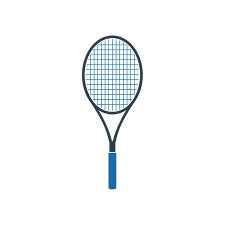 Tennis Racket Icon. Flat style vector EPS.