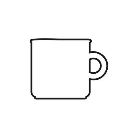 Water Pot Line Icon. Editable Vector EPS Symbol Illustration. Ilustracja