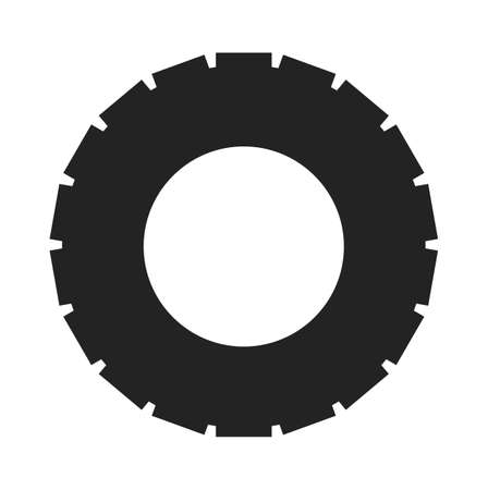 Tire Icon. Flat style vector EPS. Illustration