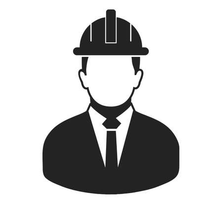 Male Engineer Icon. Flat style vector . Vecteurs