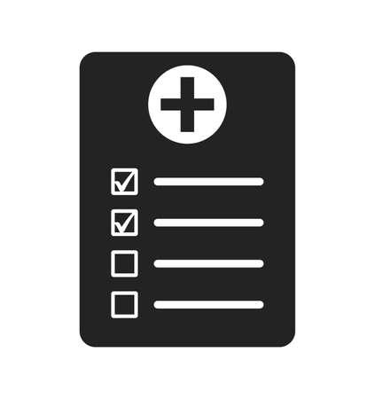 Medical prescription icon. Flat style vector EPS.
