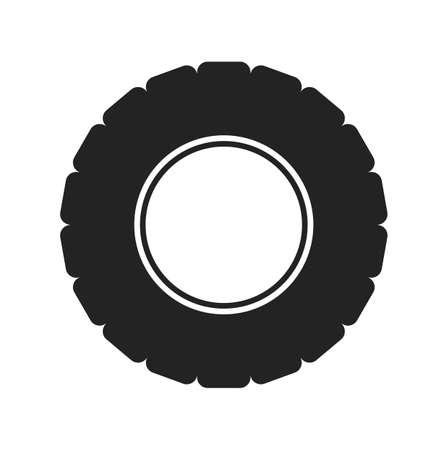 Tire Icon. Flat style vector EPS. Ilustração