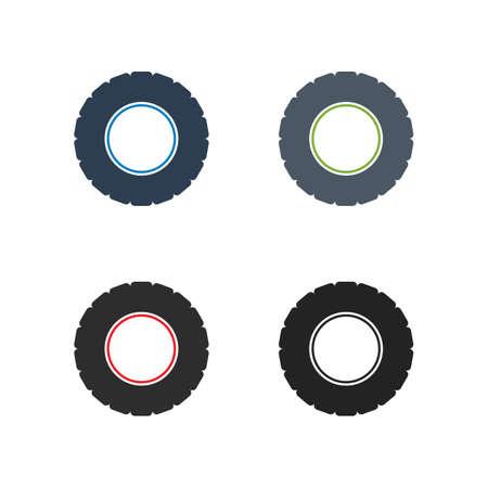 Car Tear Icon Set. Flat style vector EPS. Ilustração