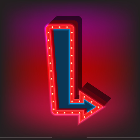 style template: Neon sign template flat style vector illustration.