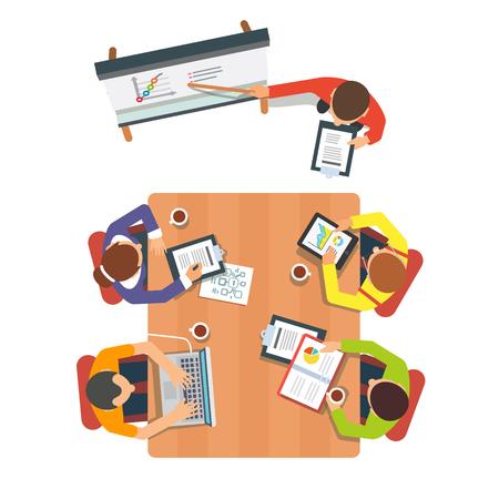 ビジネスのプレゼンテーションや会議のセッション。  イラスト・ベクター素材