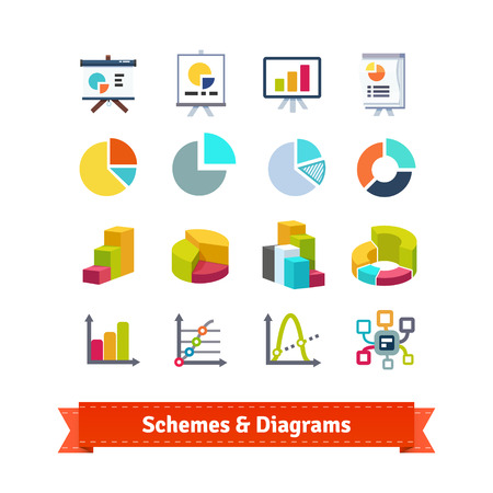schemes: Schemes and diagrams for presentation in ecommerce, statistics, finance and business.
