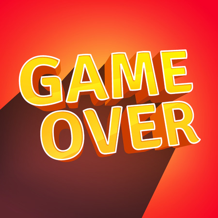 unsuccess: Game Over letters design. Flat style vector illustration.