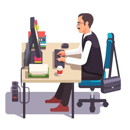 Schreibtisch büro clipart  Haus Oder Büro-Schreibtisch Mit Sockel Schublade, Rollen Stuhl ...