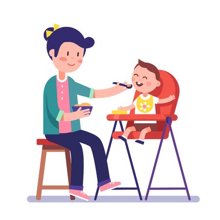 Children Having Dinner At The Kindergarten Of Home Kids Eating