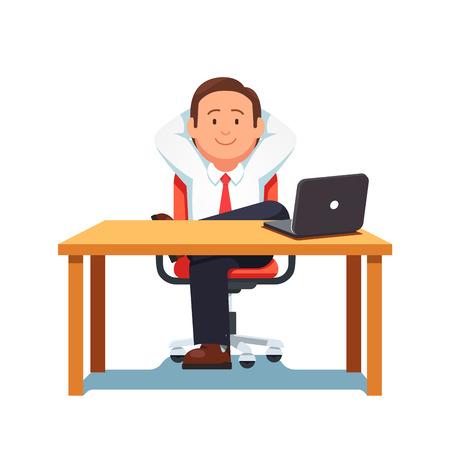 Homme d'affaires détendu assis dans une pose confiante