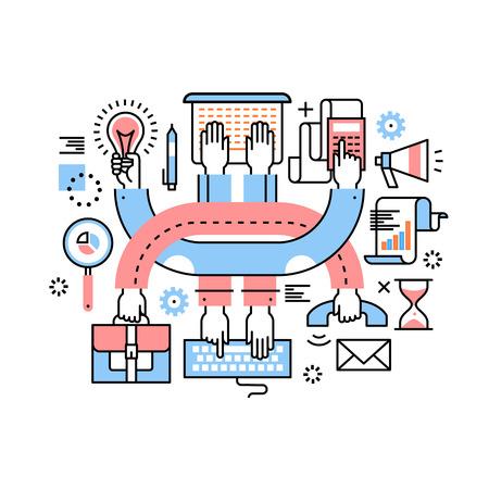 起業家のチームワークとマルチタスク ハードワーク