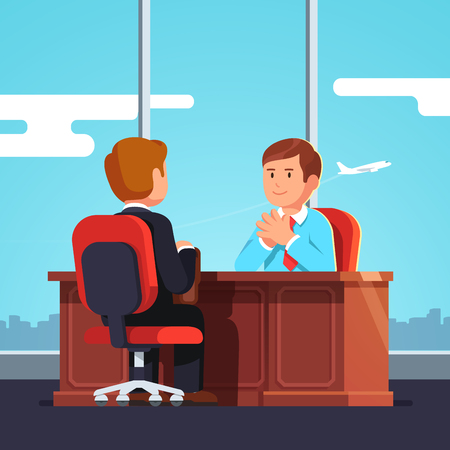 Job interview CEO or HR officer and candidate