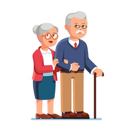 Ancien homme âgé et femme âgée debout ensemble