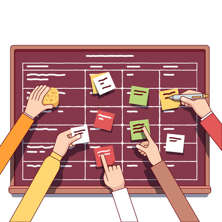 briefing: Team working together on a IT startup business Illustration