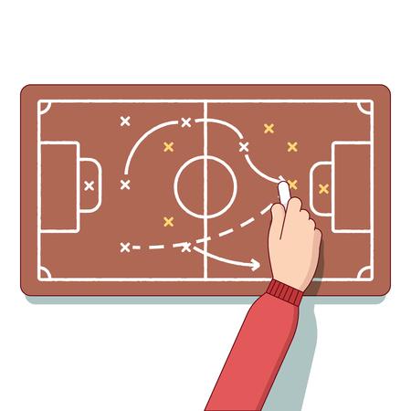 entrepreneurship: Football or hockey coach planning an upcoming game