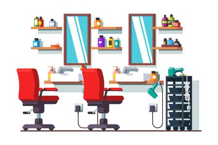 女性美容理髪サロンや理髪店  イラスト・ベクター素材
