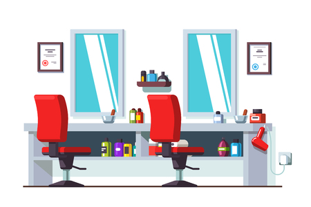 mirror: Barber shop and man beauty hairdressing salon