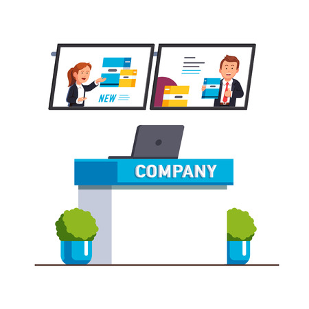 Business exhibition show product presentation Ilustração