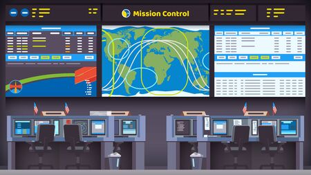 space flight mission control center room