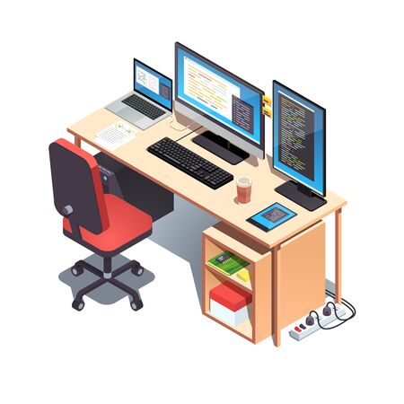 Laptop computer, desktop pc setup table with chair