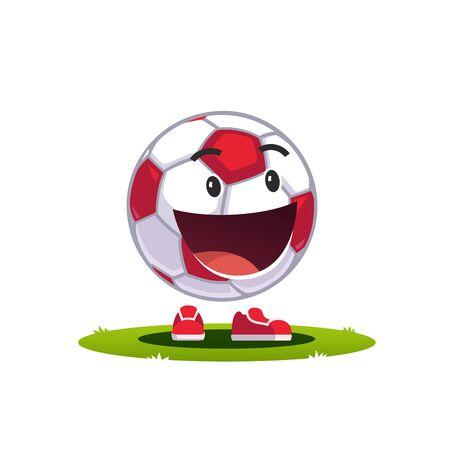 Glad soccer football fan character watching match Çizim