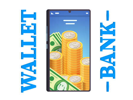 Modern digital online mobile phone banking app