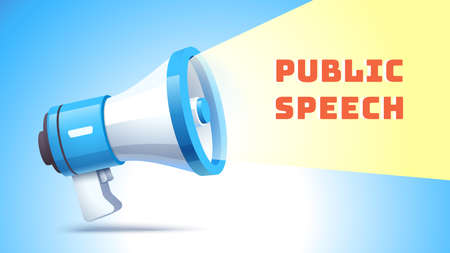 Public speech concept. Emitting sound for activism
